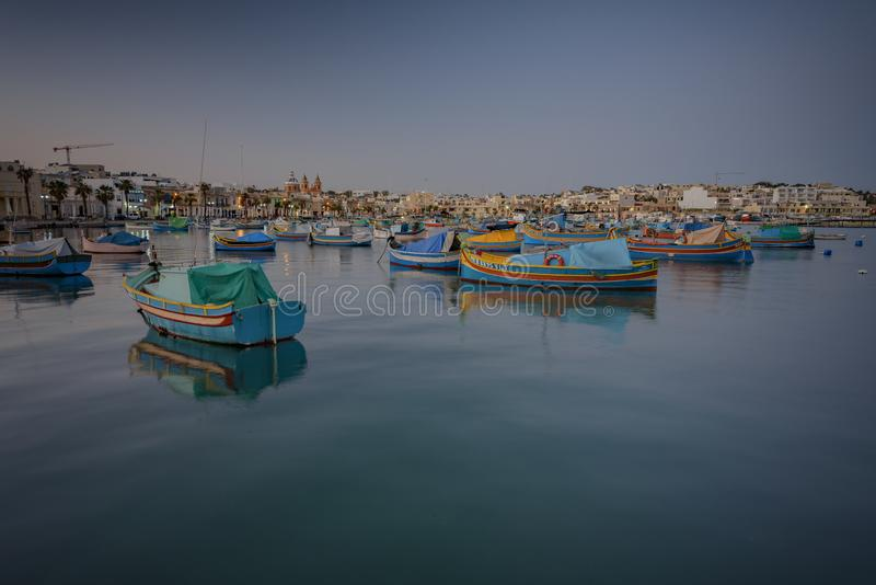 Barcos malteses tradicionais imagem de stock