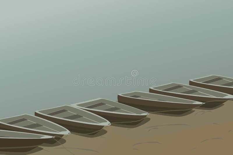 Barcos na costa fotografia de stock
