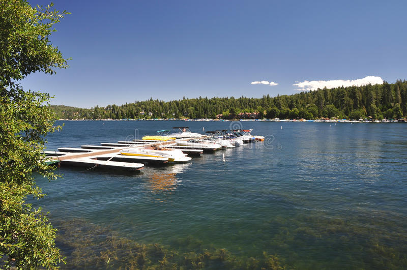 Barcos na doca fotografia de stock