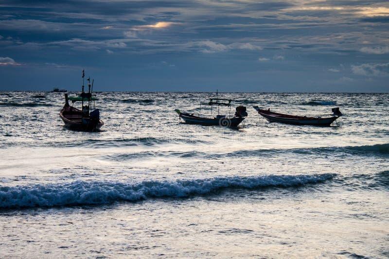 Barcos na ilha de Ko Tao fotografia de stock