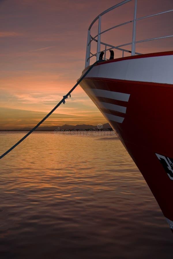 Barcos na porta fotografia de stock royalty free