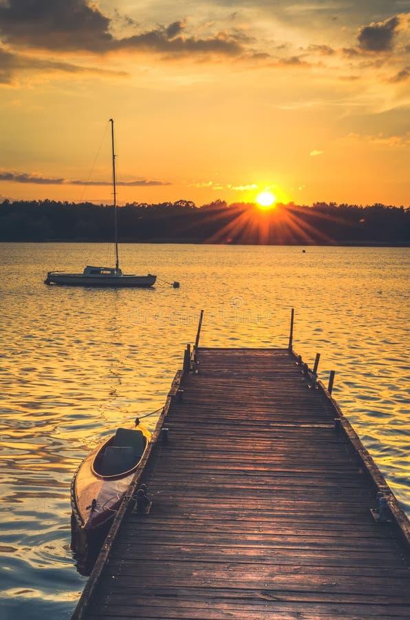 Barcos no lago fotografia de stock royalty free