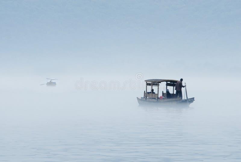 Barcos no lago ocidental imagens de stock