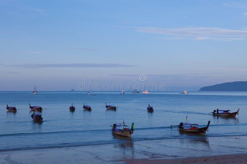 Barcos no mar fotografia de stock