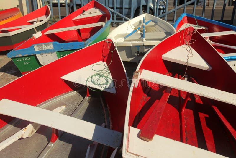 Barcos no porto de Gomera do La fotos de stock royalty free