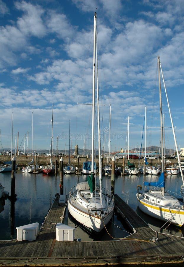 Barcos no porto de San Francisco imagem de stock