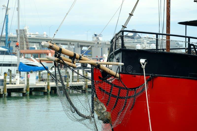 Barcos no porto, Miami - Florida foto de stock