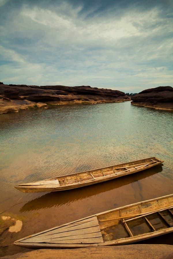 Barcos no rio de Mekong imagem de stock royalty free