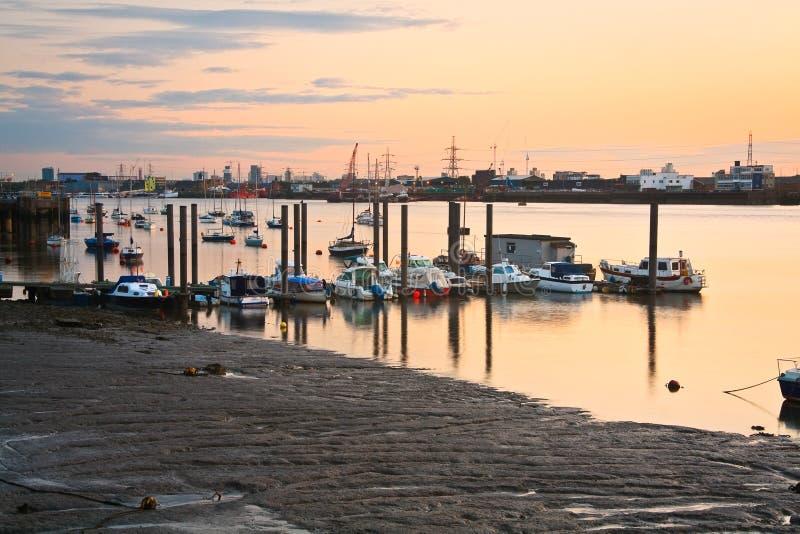 Barcos no rio Tamisa foto de stock
