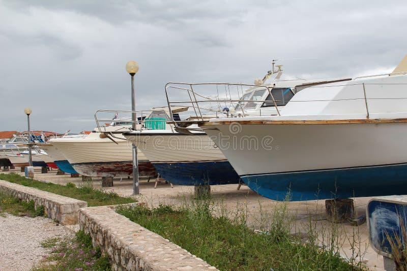 Barcos para reparos foto de stock