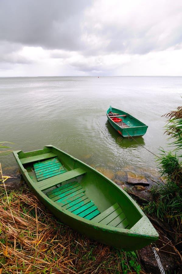 Barcos sós fotografia de stock