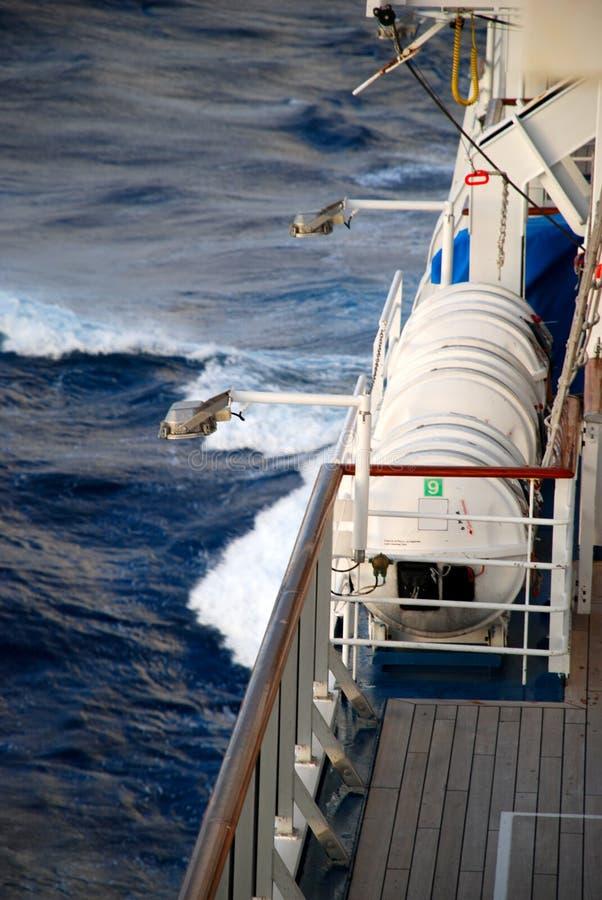 Barcos salva-vidas no navio de cruzeiros fotografia de stock royalty free