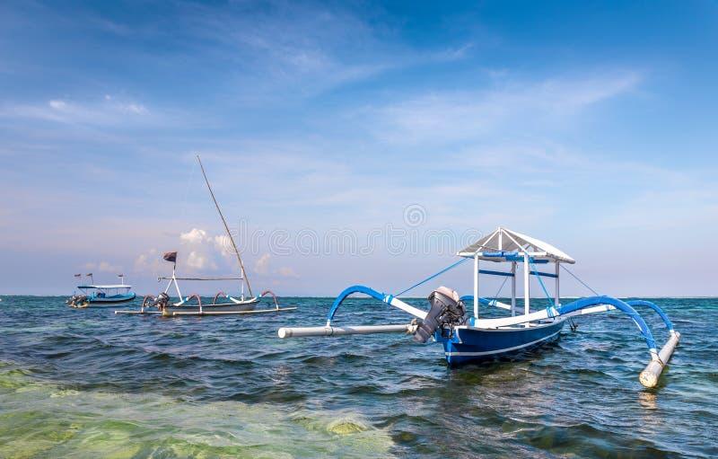 Barcos tradicionales del balinese fotos de archivo libres de regalías