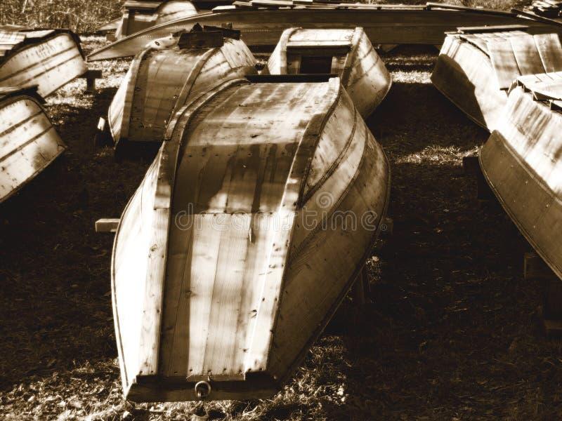 Barcos velhos fotografia de stock