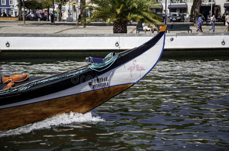 Barcos velhos de Aveiro em Portugal imagens de stock