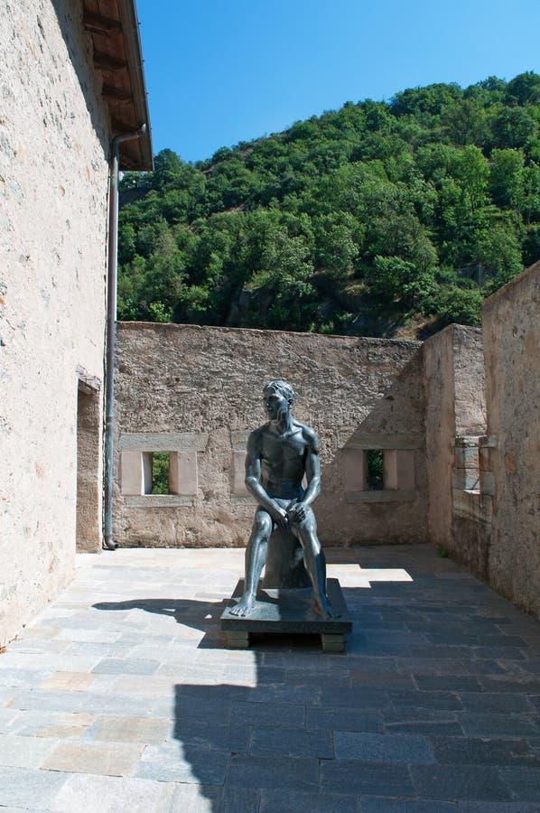 Bard, de Aosta-Vallei, Italië, Europa royalty-vrije stock afbeeldingen