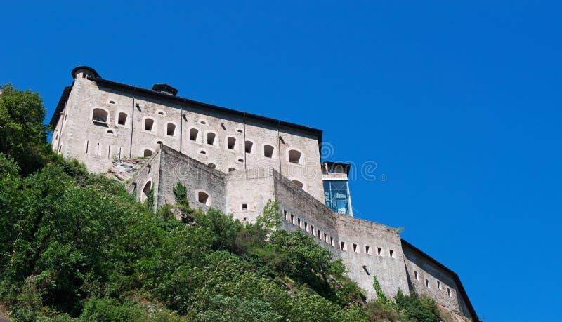 Bard, de Aosta-Vallei, Italië, Europa stock foto