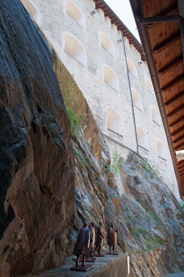 Bard, de Aosta-Vallei, Italië, Europa royalty-vrije stock afbeelding
