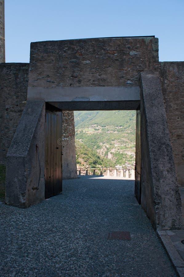Bard, de Aosta-Vallei, Italië, Europa stock afbeelding