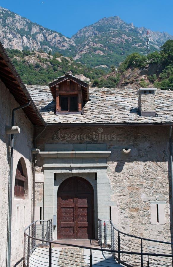 Bard, de Aosta-Vallei, Italië, Europa royalty-vrije stock foto