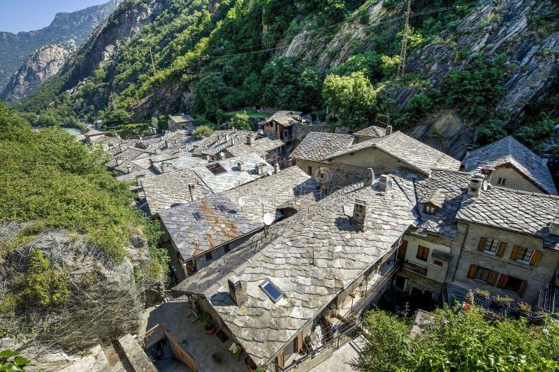 Bard - Middeleeuws dorp royalty-vrije stock fotografie