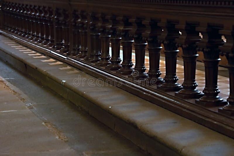 Bardeau de bois peint en marron images stock