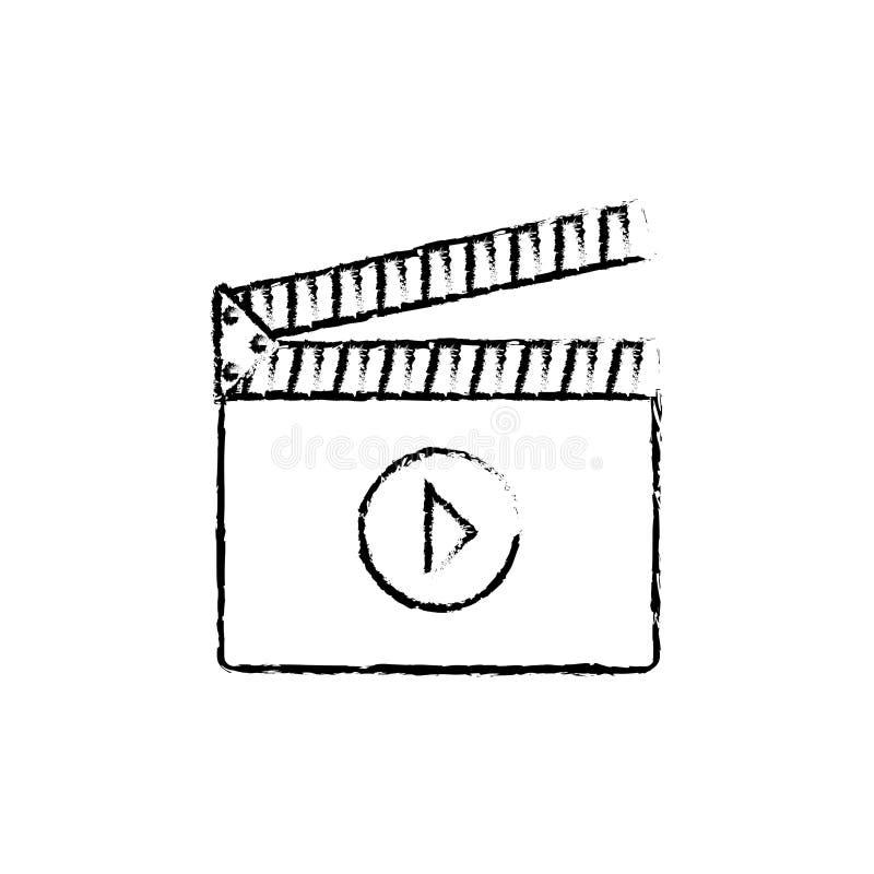 Bardeau de cinéma d'isolement illustration de vecteur