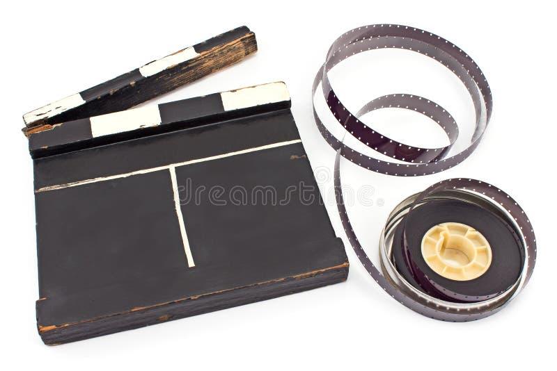 Bardeau de film de vintage et bobine de film de 16 millimètres photo libre de droits