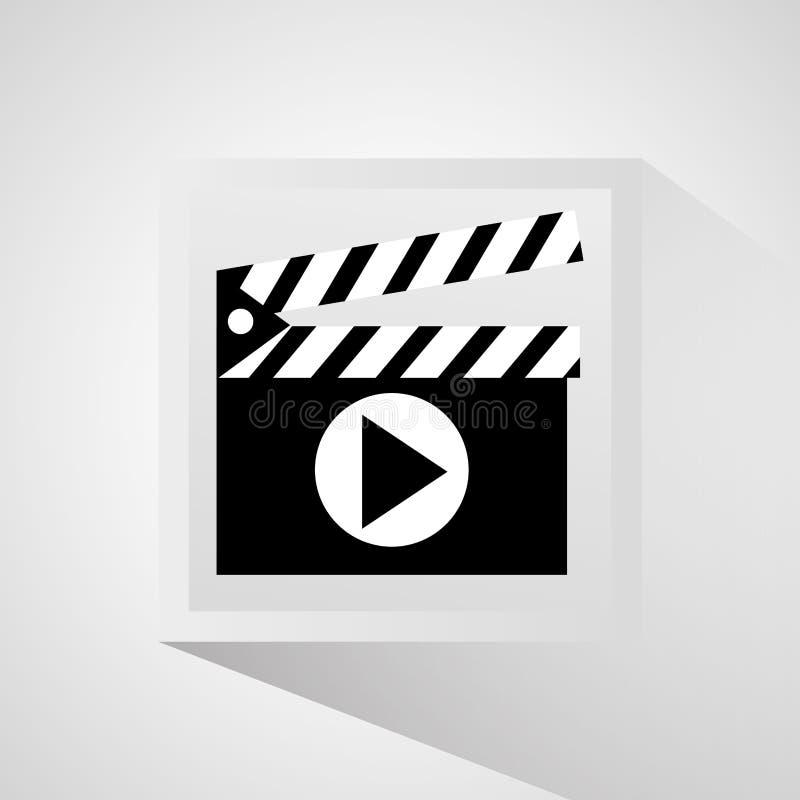 Bardeau et conception de film illustration libre de droits