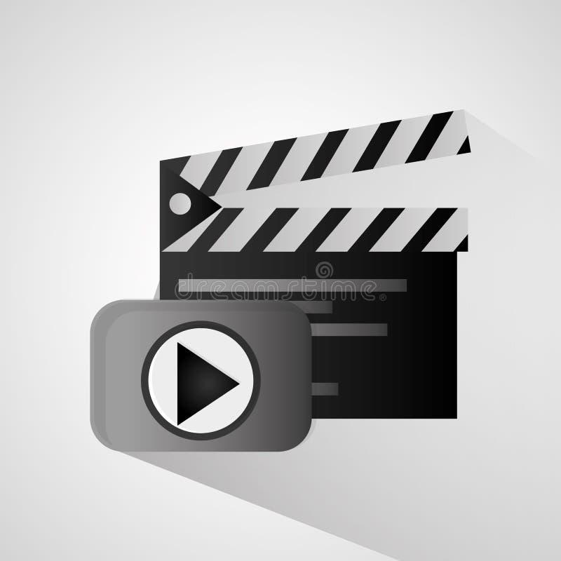 Bardeau et conception de film illustration de vecteur