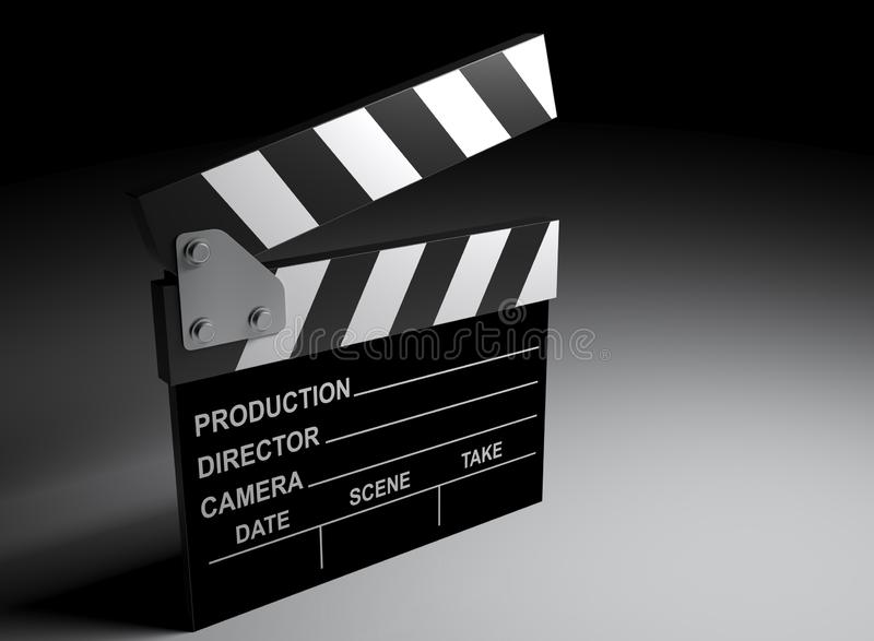 Bardeau pour le film de enregistrement - illustration du rendu 3D illustration de vecteur