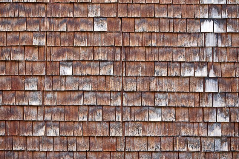 Bardeau, tavaillon, tuile en bois typique de tavillon de Suisse photos stock