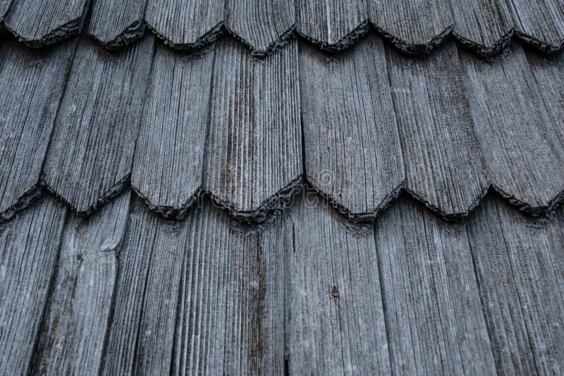 Bardeaux en bois de toit Texture et fond photo libre de droits