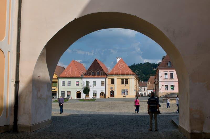 Bardejov - ciudad de la UNESCO imágenes de archivo libres de regalías