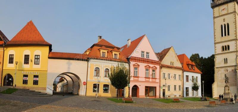 Bardejov - ciudad de la UNESCO - casas viejas fotografía de archivo libre de regalías