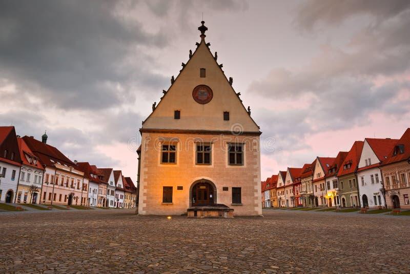 Bardejov, Eslováquia fotos de stock