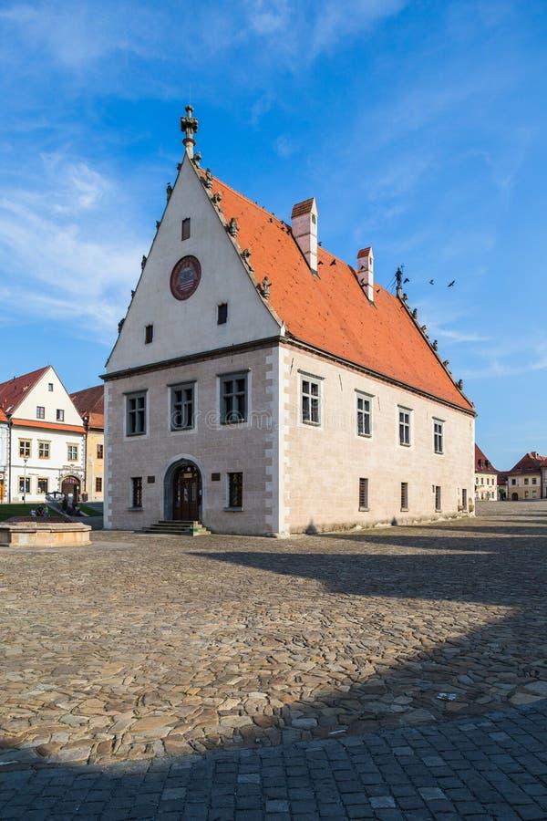 Bardejov, Eslováquia Câmara municipal velha imagens de stock royalty free