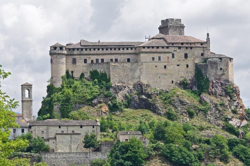 bardi城堡一点红・意大利romagna 图库摄影