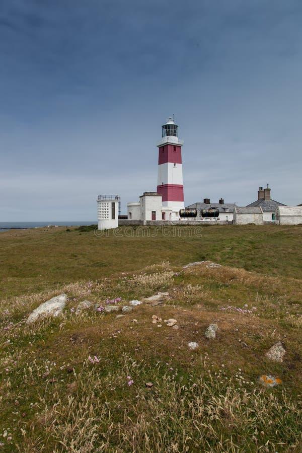 Bardsey海岛灯塔 库存图片
