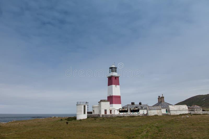 Bardsey海岛灯塔 免版税图库摄影