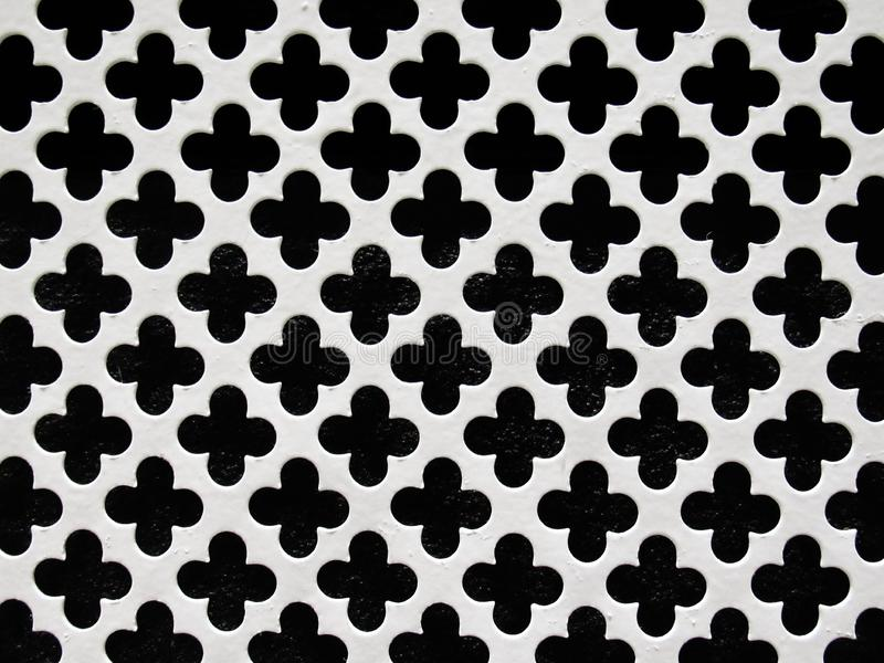 Bardzo ładnej siatki siatki czarny i biały tło, metal z szorstką teksturą obraz royalty free