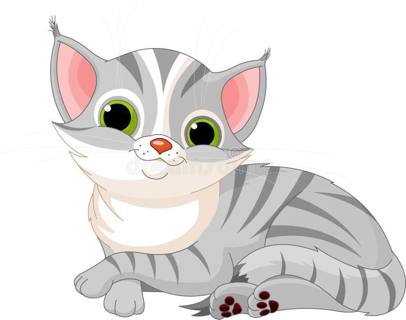 Bardzo śliczny kot ilustracja wektor