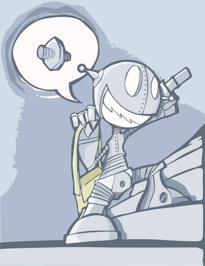 Bardzo Entuzjastyczny robot ilustracji