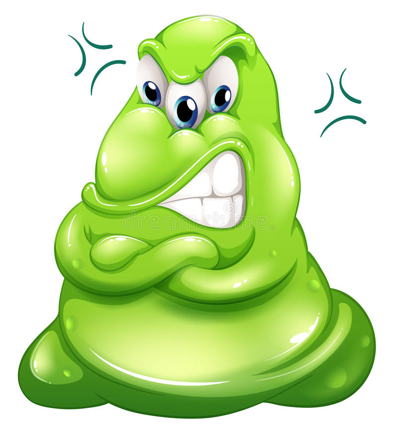 Bardzo gniewny zielony potwór ilustracji