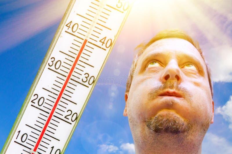 Bardzo gorący dzień w lecie fotografia stock
