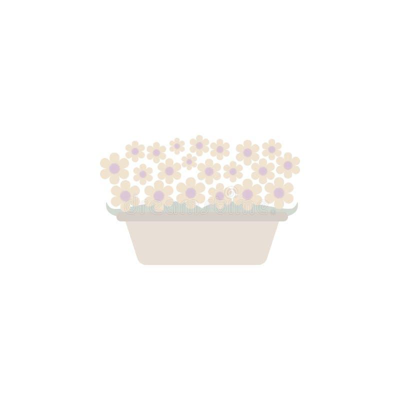 bardzo jej się kwiaty, ty wiadomości zioło Element kwiat dla mobilnych pojęcia i sieci apps Barwioni kwiaty w garnku mogą używać  ilustracji