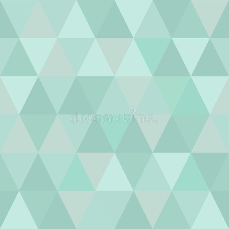 Bardzo lekki bezszwowy wzór trójboki zimni zima odcienie royalty ilustracja