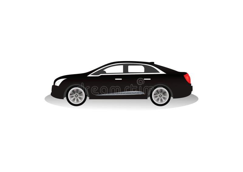 Bardzo luksusowy czarny samochodowy wektor ilustracji