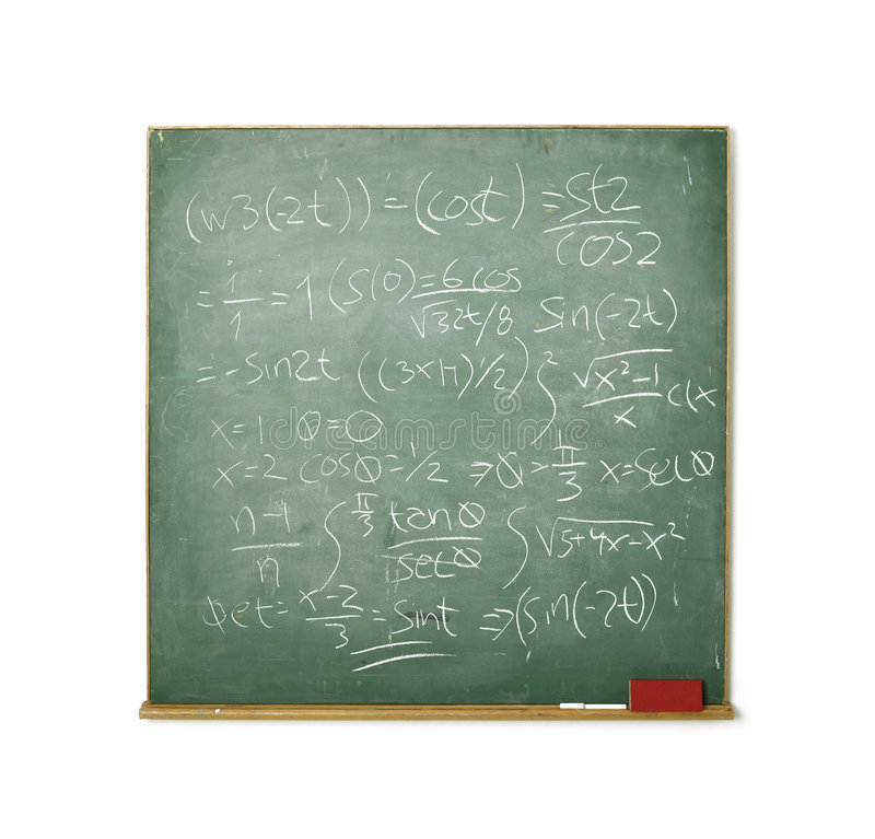 bardzo odosobnione tablicy matematyki white fotografia royalty free