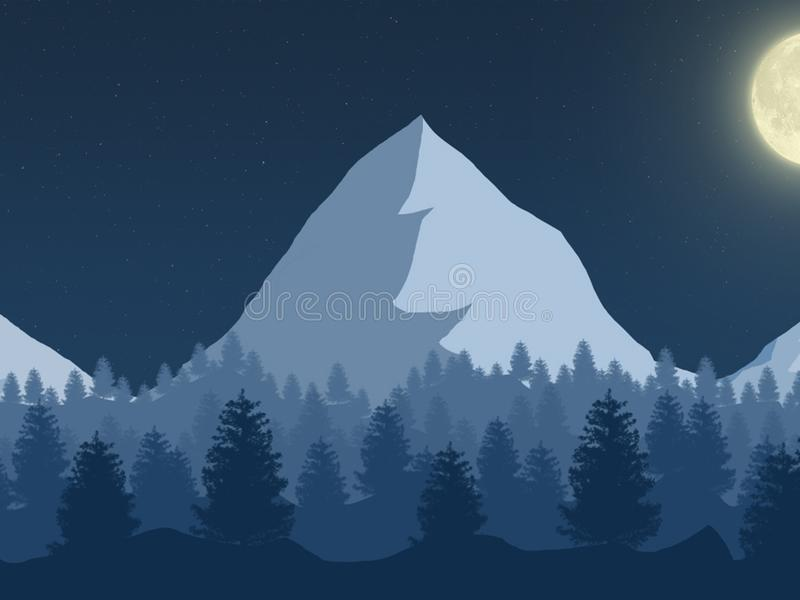 Bardzo piękny Halny noc krajobraz obrazy stock